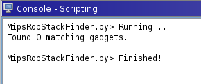 mips rop - using someone else's ghidra scripts to find rop gadgets, and the script says 0 gadgets found